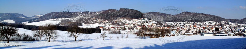 Tieringen Panorama Winter